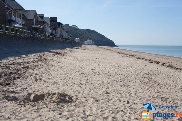Photo of Carolles beach in Normandy in France