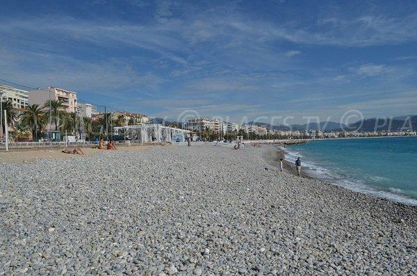 Plage de Carras à Nice