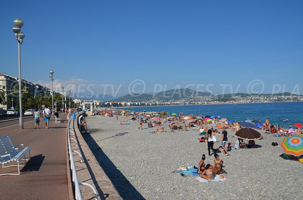 Photo of the Carras beach in Nice
