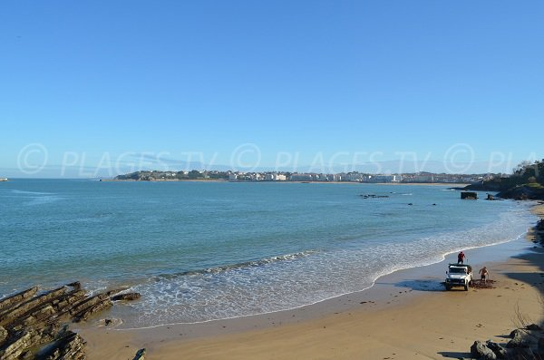 View on St Jean de Luz from Carré beach in Ciboure