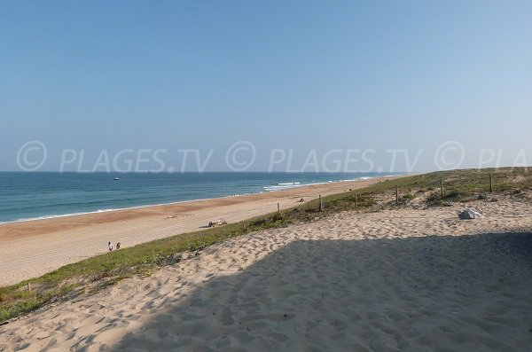 Photo de la plage des Casernes à Seignosse