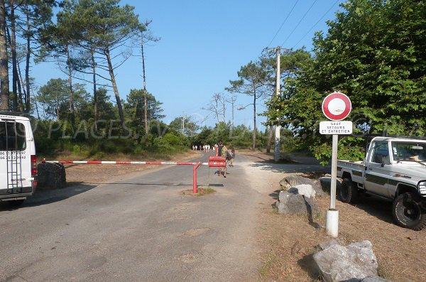 Chemin d'accès à la plage des Casernes - Seignosse
