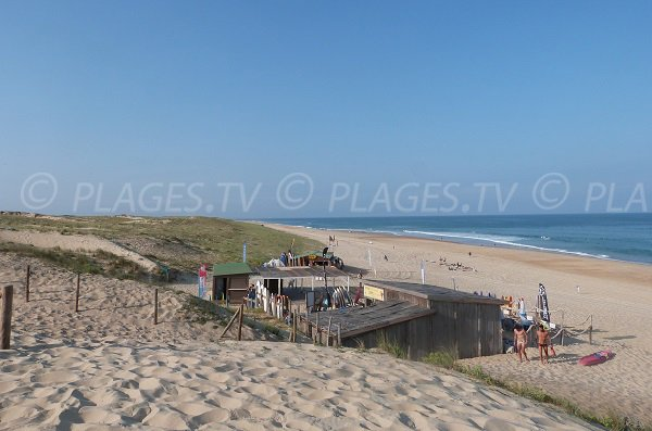 Casernes beach in Seignosse in France