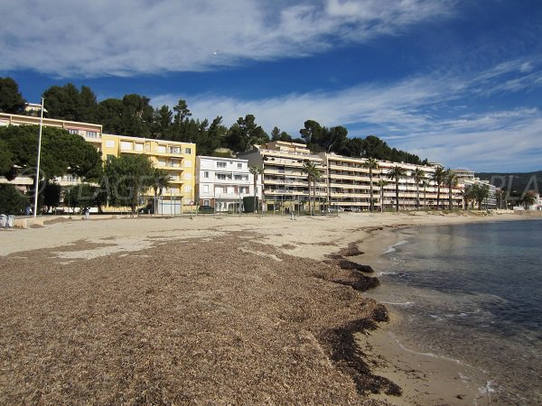 Public beach in Bandol near to the casino