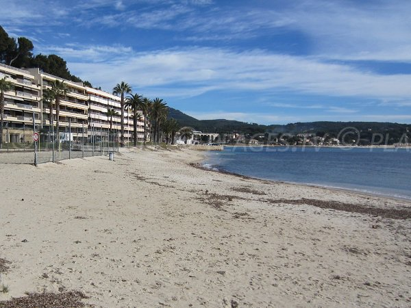 Casino beach in Bandol in winter
