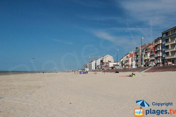 Casino beach in Bray Dunes in France