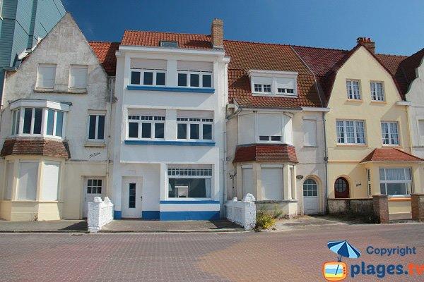 Belles maisons autour de la plage de Bray-Dunes