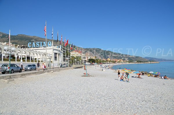 View on the Casino of Menton and on the city
