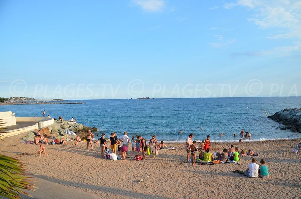 Photo of beach near the Casino of St Raphael in France