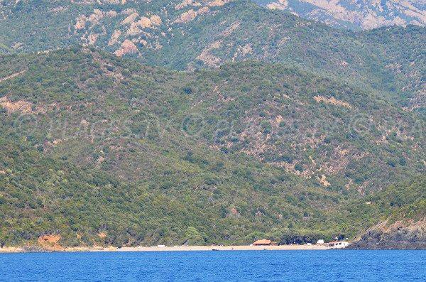 Photo de la plage de Caspiu en Corse