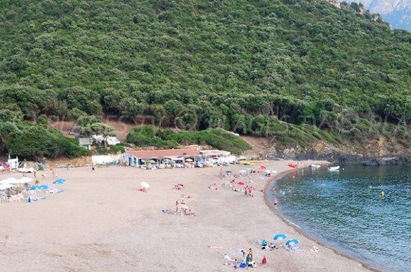 Photo de la plage de Partinello en Corse