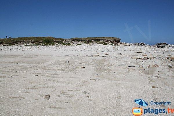 Dunes sur l'ile Grande - Castel Erek