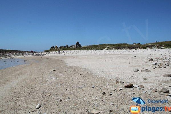 Plage de Castel Erek sur l'ile Grande de Pleumeur Bodou