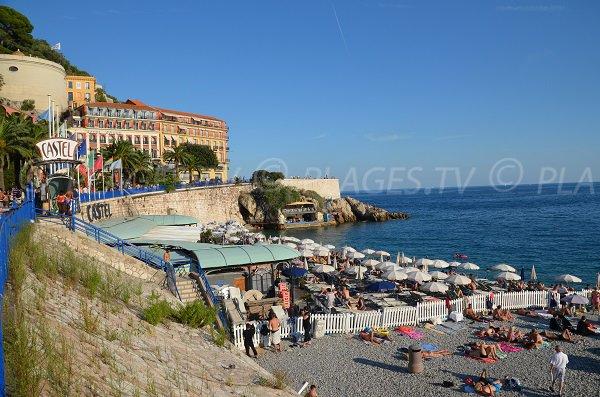 Castel private beach in summer