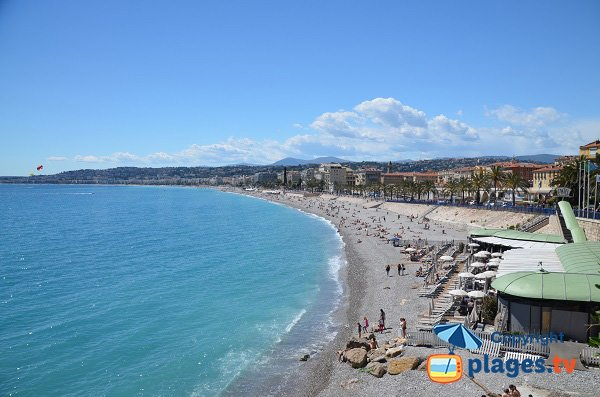 Castel beach in Nice in France