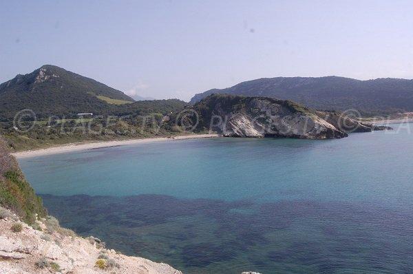 Catarelli beach in Farigole in Corsica
