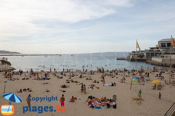Archipel Frioul view from Catalans beach of Marseille