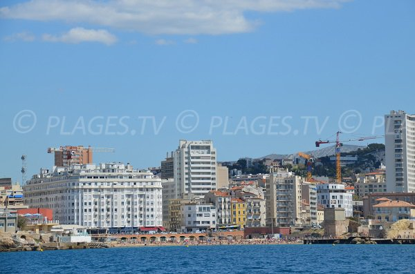 Catalans beach from the sea - Marseille