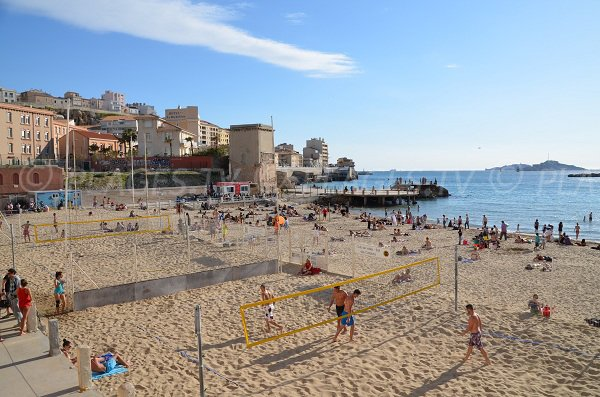 Catalans beach in Marseille in France