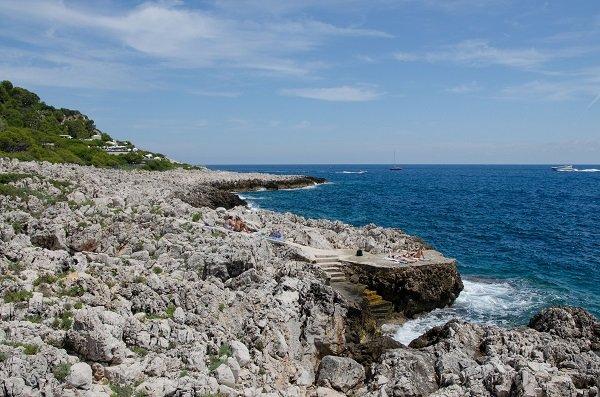 Criques à proximité du phare de St Jean Cap Ferrat et du Grand Hôtel