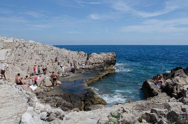 Bathing near Cap Ferrat point