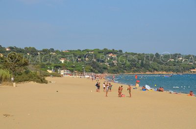 Beach in Cavalaire sur Mer (France)