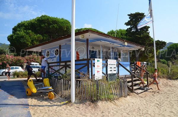 First aid station on the Cavaliere beach
