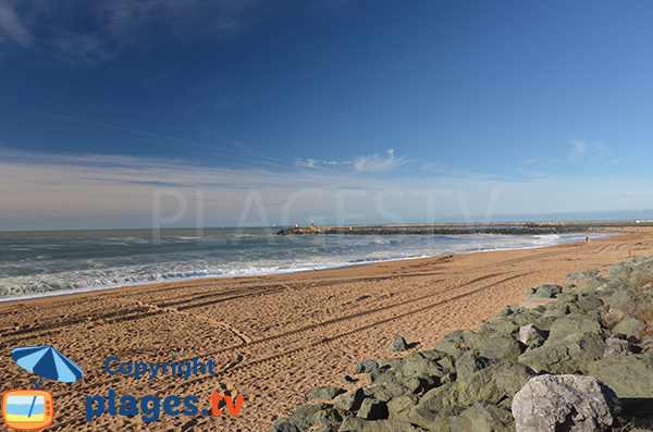 Sand beach in Anglet - Cavaliers