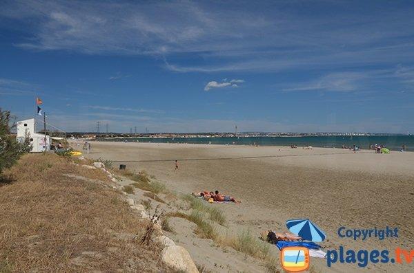 Cavaou beach in Fos sur Mer in France