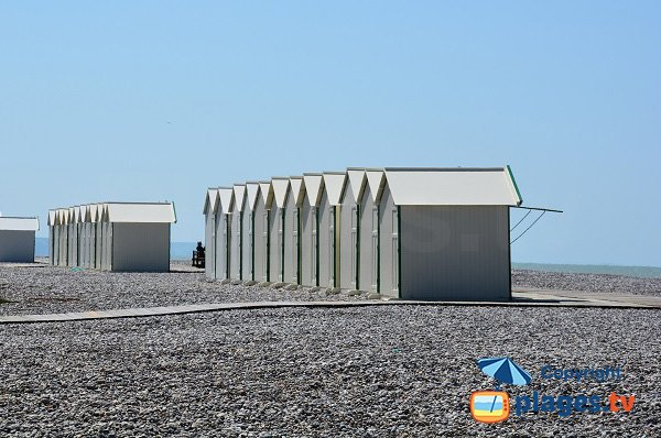 Cayeux beach with bathing huts