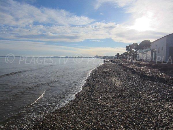 Plage privée sur la plage du Ceinturon à Hyères