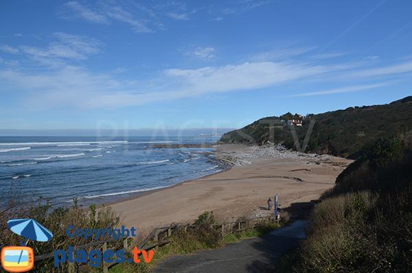 Photo de la plage de Cenitz à St Jean de Luz
