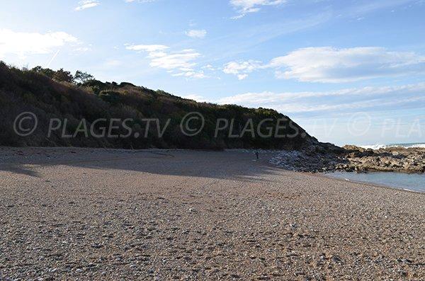 South of Centiz beach in St Jean de Luz in France