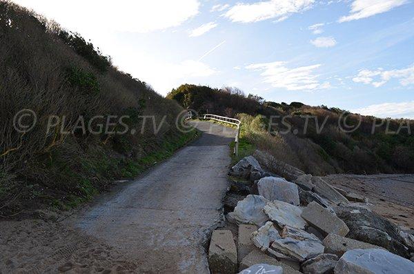 Access to the Cenitz beach in St Jean de Luz