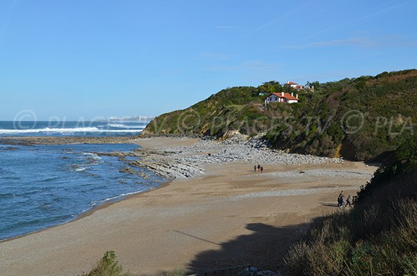 Cenitz beach in Saint Jean de Luz in France
