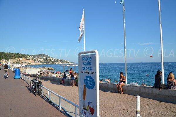Photo plage non fumeur à Nice - Le Centenaire