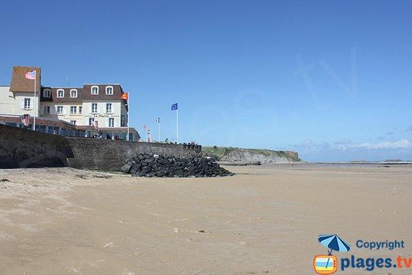 Photo de la plage d'Arromanches les Bains en Normandie
