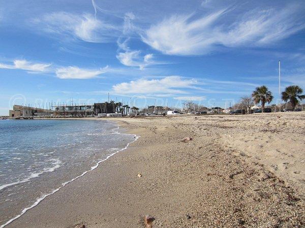 Plage de sable à Bandol