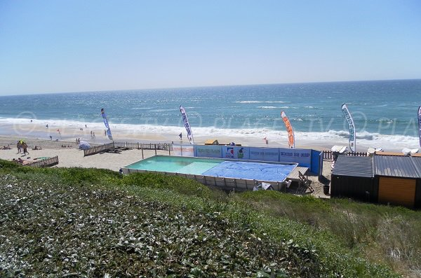 Beach club in Biscarrosse