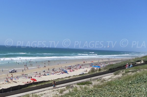 Photo of the main beach in Biscarrosse - France