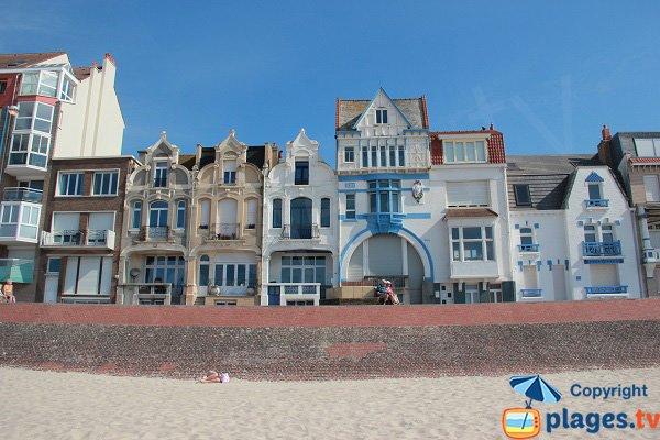 Belles maisons de Bray-Dunes autour de la plage centrale