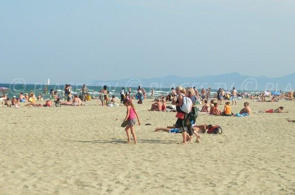 Foto della spiaggia centrale di Canet en Roussillon - Pirenei orientali