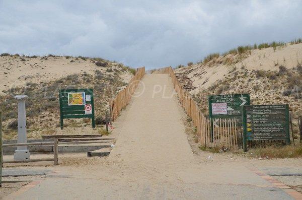 Accedi spiaggia centrale di Carcans