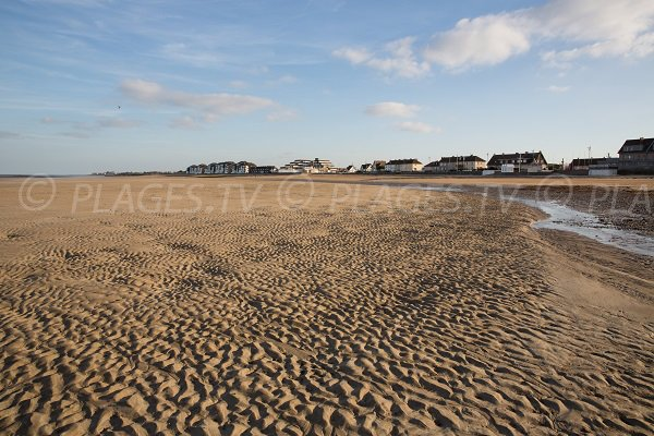 Photo of the main beach of Courseulles in France (Normandy)