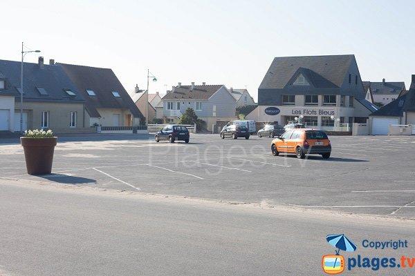Parking de la plage de Gouville sur Mer
