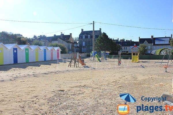 Playground for children on the beach Grandcamp Maisy
