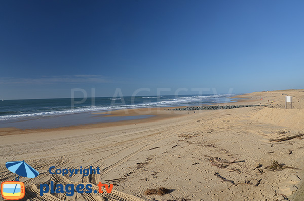 Beach in the center of Hossegor in Landes department - France