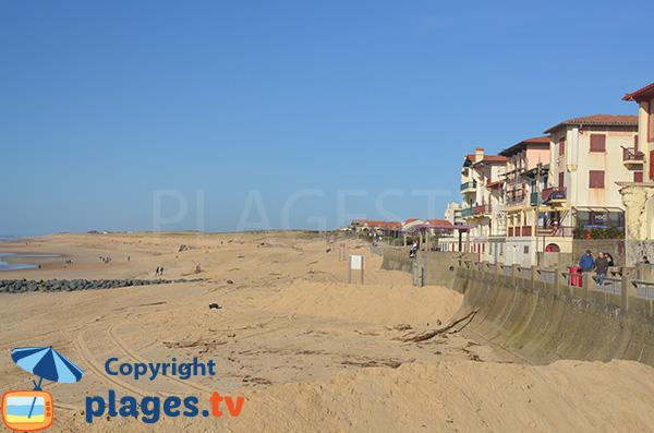 Central beach in Hossegor in France