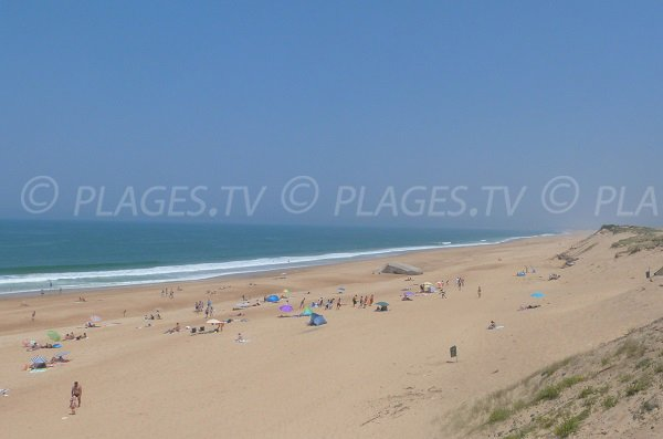 Nord beach in Labenne - France