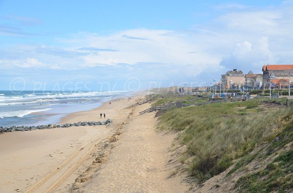 Beach and seafront of Lacanau Ocean in France